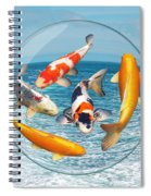 Lost In A Daydream - Fish Out Of Water Spiral Notebook