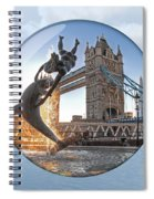 Lost In A Daydream - Floating On The Thames Spiral Notebook