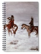 'lost In A Snow Storm - We Are Friends' Spiral Notebook