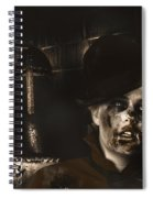 Lost In The Dark. Death Becomes You Spiral Notebook