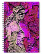 Lost In Thoughts Of Self Reflection Spiral Notebook