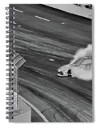Lost It On The Turn Blkwht Spiral Notebook