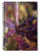 Lost Leaves Decorated In Purple 6003 Ldp_2 Spiral Notebook