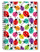 Lots Of Crayon Colored Ladybugs Spiral Notebook