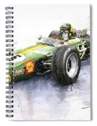 Lotus 49 Ford F1 Jim Clark Spiral Notebook