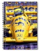 Lotus 99t Spa 1987 Ayrton Senna Spiral Notebook