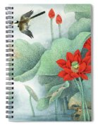 Lotus And Kingfisher Spiral Notebook