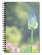 Lotus Bud In Garden Spiral Notebook
