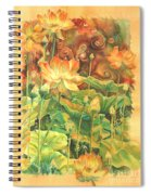 Lotus Field Spiral Notebook