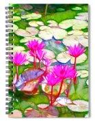 Lotus Flower 3 Spiral Notebook