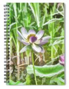 Lotus Flower On The Water Spiral Notebook