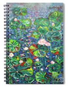 Lotus Flower Water Lily Lily Pads Painting Spiral Notebook