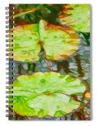 Lotus Flowers Leaves Spiral Notebook