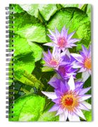 Lotus In Pond Spiral Notebook