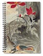 Lotus Mandarin Duck Spiral Notebook