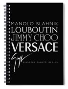 Louboutin, Versace, Jimmy Choo - Black And White - Lifestyle And Fashion  Spiral Notebook