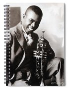 Louis Armstrong, American Jazz Musician Spiral Notebook
