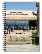 Louis Armstrong Bronze - Mahalla Jackson Theater - New Orleans Spiral Notebook