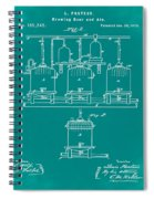 Louis Pasteur Brewing Beer And Ale Patent 1873 Green Spiral Notebook