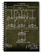 Louis Pasteur Brewing Beer And Ale Patent 1873  Grunge Spiral Notebook