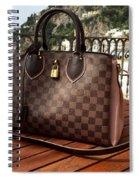 Louis Vuitton Handbag Overlooking The Amalfi Coast Spiral Notebook