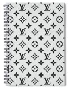 Louis Vuitton Pattern Lv 07 Grey Spiral Notebook