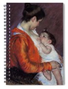 Louise Nursing Her Child Spiral Notebook