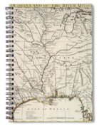 Map Of Louisiana And Of The River Mississippi Spiral Notebook