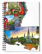 Louisiana Map - New Orleans Spiral Notebook