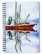 Louisiana Shrimp Boat 4 - Impasto Spiral Notebook