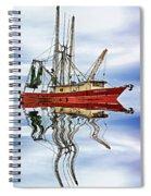 Louisiana Shrimp Boat 4 - Paint Spiral Notebook