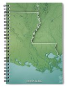Louisiana State Usa 3d Render Topographic Map Border Spiral Notebook
