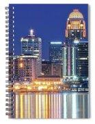 Louisville Kentucky Lights Spiral Notebook