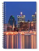 Louisville Panoramic At Blue Hour Spiral Notebook