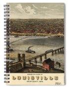 Louisville Vintage Map Spiral Notebook