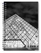 Louvre Museum Bw Spiral Notebook