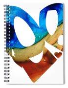 Love 6 - Heart Hearts Valentine's Day Spiral Notebook