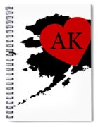 Love Alaska Black Spiral Notebook