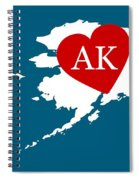 Love Alaska White Spiral Notebook