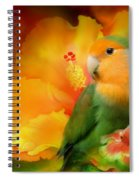 Love Among The Hibiscus Spiral Notebook