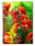 Love Among The Poppies Spiral Notebook
