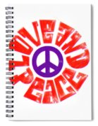 Love And Peace 14 Spiral Notebook