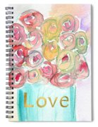 Love And Roses- Art By Linda Woods Spiral Notebook