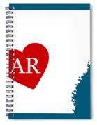Love Arkansas White Spiral Notebook