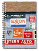 Love Barn With Road Signs, Orland, Maine Spiral Notebook