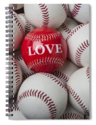 Love Baseball Spiral Notebook