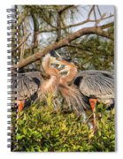 Love Birds - Great Blue Heron Spiral Notebook
