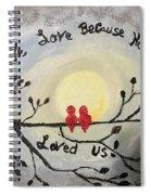 Love Birds  Spiral Notebook
