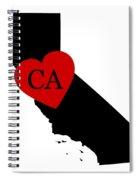 Love California Black Spiral Notebook