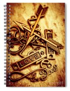 Love Charms In Romantic Signs And Symbols Spiral Notebook